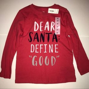 NEW!! Old Navy long sleeved Dear Santa tee